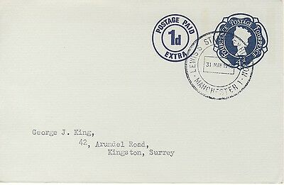 Lewis's Stamp Exhibition 31 May 1969 cancellation on prepaid envelope