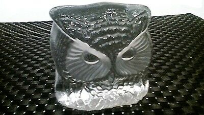 "Swedish Glass Owl by"" Nybro"" of Sweden"