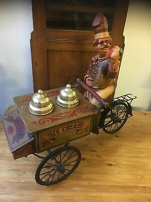 old vintage icecream man and cart
