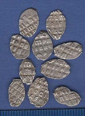 Peter I, the Great. Lot of 10 wire coins. Kopeck