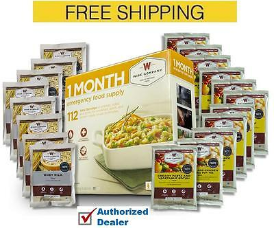 Wise, 1 Month Emergency Food Supply, 112 Servings Campin, Bug Out, Survival