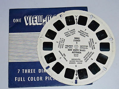"""Vintage 1950's View-Master Reel """"Sydney 11 New South Wales Australia""""  # 5002"""