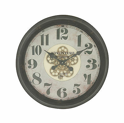 Superbly Styled Metal Wall Clock