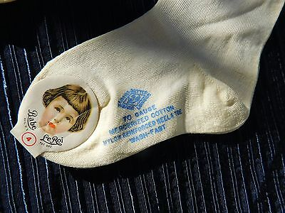 vtg 2 cotton undershirts & 2 pair socks unworn w/ tags *Babe Le Roi*