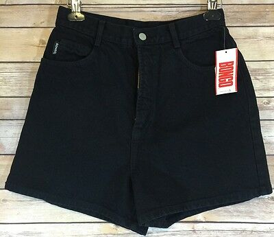 VTG BONGO Black High Rise Denim Shorts 13