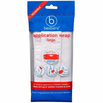 Bexters Application Wrap Large For Crystals Relieve Aching Swollen Muscles