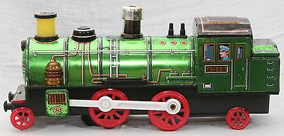 RARE VTG Modern Toys Japan Battery Op Green 4081 Locomotive Train Tin Toy WORKS