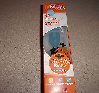 Dr Brown's 8 Oz Standard Natural Flow Special Edition Halloween Bottle New Read