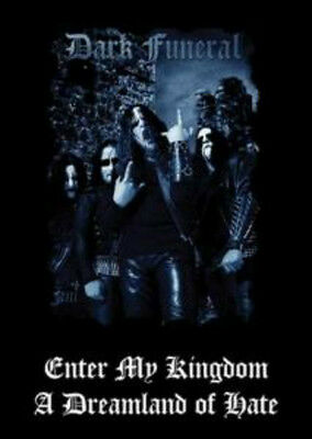 DARK FUNERAL POSTER Enter My Kingdom NEW OFFICIAL MERCHANDISE Black Metal Rare