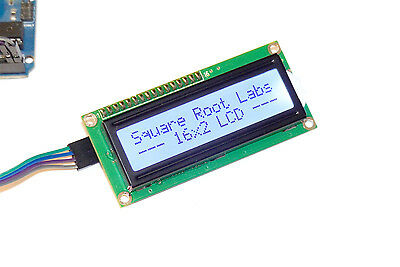 Cool White 16x2 I2C LCD Display + Wires for Arduino Raspberry Pi 1602 Dark Text