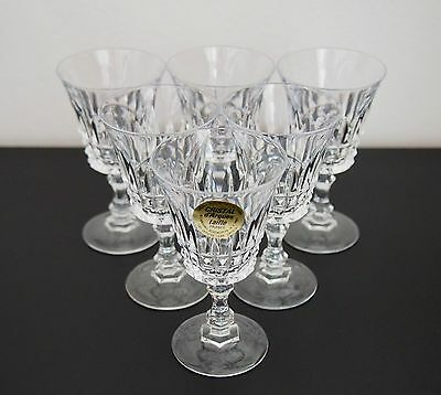 Cristal d'Arques Taille - 6 Steamed Lead Crystal Glasses