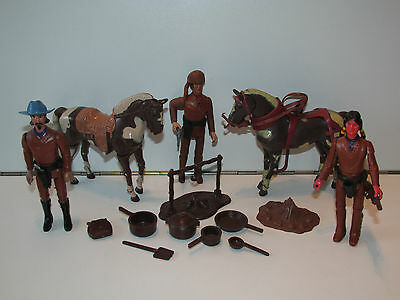 Legends Of The West Lot Of Figures & Horses 1979 Empire Toys