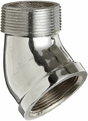 """Chrome Plated Brass Pipe Fitting 45 Degree Street Elbow 1/2"""" NPT Male x Female"""