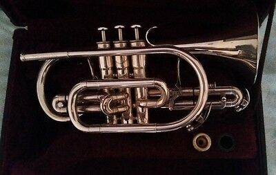 Rare Besson Sovereign 927GS Cornet Silver Plated