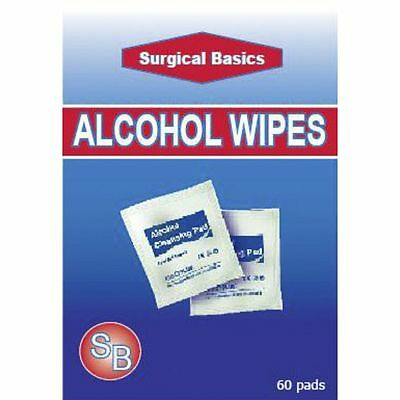 ~ Surgical Basics Acohol Wipes 20 Pack Cleansing Pads External Use Only