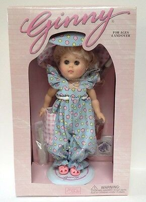 """Ginny, America's Sweetheart Vogue Doll Co.  Petunias 8"""" Poseable Doll New In Box"""