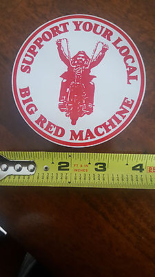 Hells Angels   BIG RED MACHINE  SUPPORT 81 DECAL