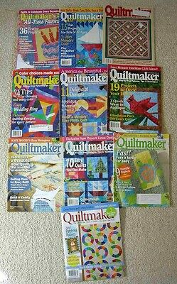 """Lot Of 10 Back Issues """"quiltmaker's"""" Magazine"""