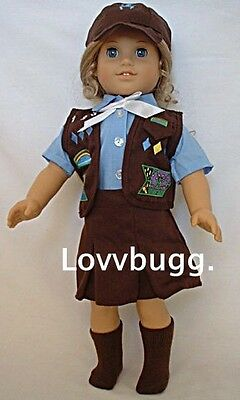 Brownie Uniform Skirt 5 piece Set for 18 inch Doll Clothes American Girl