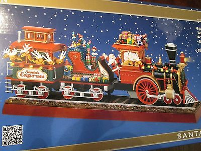 Mr. Christmas Gold Label Collection Santa`s Express Train Smoke Musical Animated