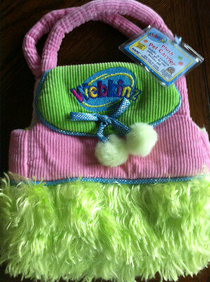 Webkinz Bag Carrier. Brand New. Intact Feature Code. Green and Pink.
