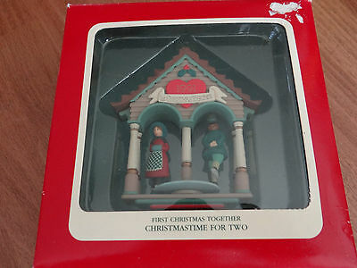Carlton Cards Heirloom Collection First Christmas Together For T 1991 Ornament 2