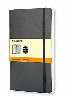 ~ Moleskine Classic Notebook, Pocket, Ruled, Black, Soft Cover 3.5 x 5.5 Classic