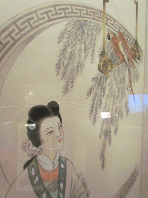 Antique Vintage Chinese Japanese Art Painting Asian Scroll