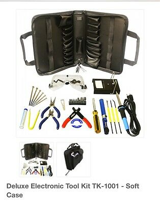 Deluxe Elenco Electronic Tool Kit With Soldering Iron