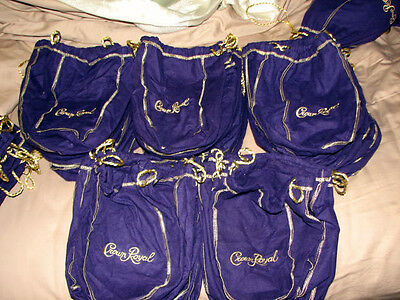 50 Crown Royal Felt Bags 1 Liter Size ~ New ~