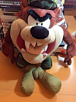 Looney Tunes Plush Tasmanian Devil TAZ in Marine Corp Camo Outfit 24""