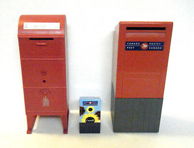 Canada Post Collectible Mail Box Coin Bank 2-Pc +  Flowery Stamp Dispenser New