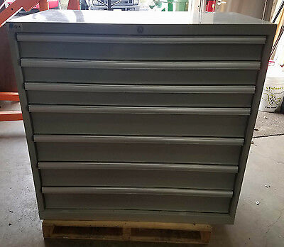 Nice Used Lista 7-Drawer Industrial Tool Box or Parts Cabinet 40x40x24
