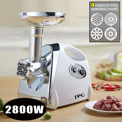 Home Electric Meat Grinder Cutter Sausage Stuffer Stainless 3 Grinding Plates