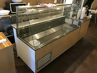 large commercial food and cake display refirgirator
