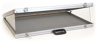 Portable Display Case Theft Guards Jewelry Showcase Fixture Store Locking New