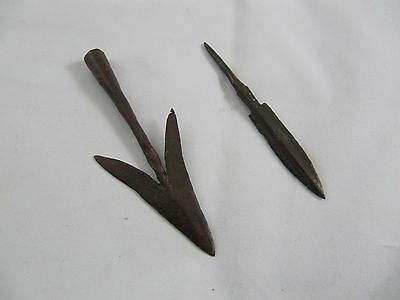 Ancient Viking Arrowhead Very Rare 8th - 10th Century 2 Peaces Arrowheads