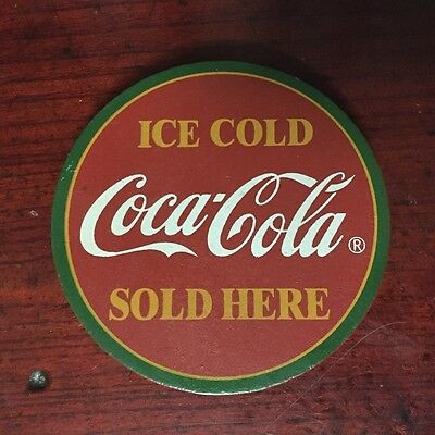 Soda Advertising Magnet Ice Cold Coca Cola Sold Here 3.25""