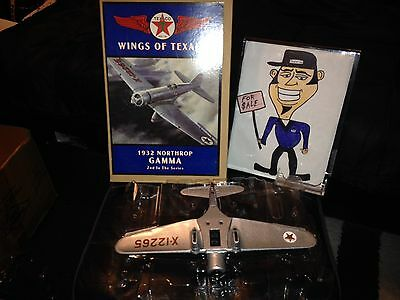 Texaco Diecast Metal Airplane Bank 1932  NORTHROP GAMMA PLANE   New in The Box