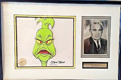 HOW THE GRINCH STOLE CHRISTMAS Original Cel signed by Chuck Jones Boris Karloff