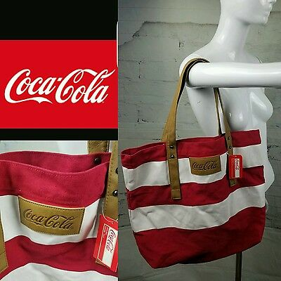 Rare Authenic Coca-cola Tote Bag Collectors Beach, library, Hand Bag, Grocery To