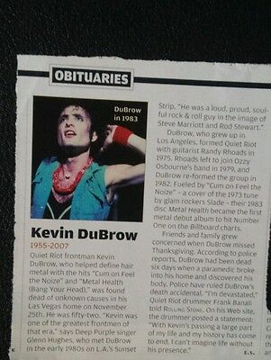 Kevin Dubrow Obituary - Rolling Stone Quiet Riot Randy Rhoads