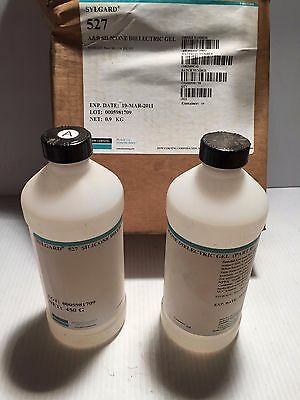 527 Sylgard  A & B Silicone Dielectric Clear Gel   for coating & encapsulating