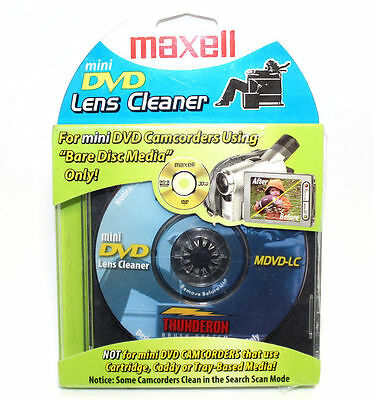 Maxell Mini Dvd Lens Cleaner Bare Disc Media Mdvd-Lc Camcorder