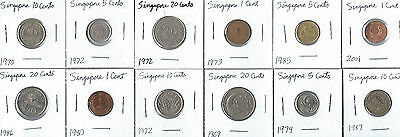 12 coins from Singapore