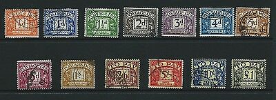 1959/63 Postage Dues Set Of 13 Sgd56/d68 Fine Used