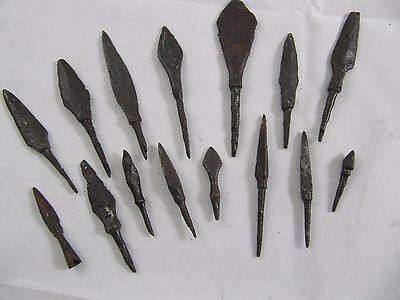 Ancient Viking Arrowhead Rare Set 8th - 10th Century 15 peaces Arrowheads