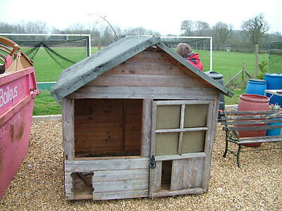 Wooden Garden playhouse wendy house garden shed  USED FOR CHICKENS  WELLINGBORO