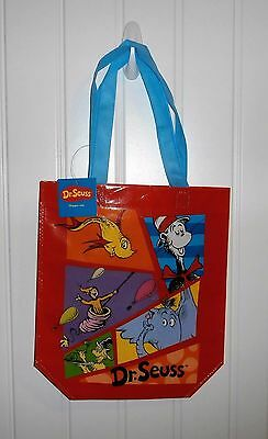 Dr. Seuss Cat in Hat Cartoon Print Red Reusable Shopping Tote Bag