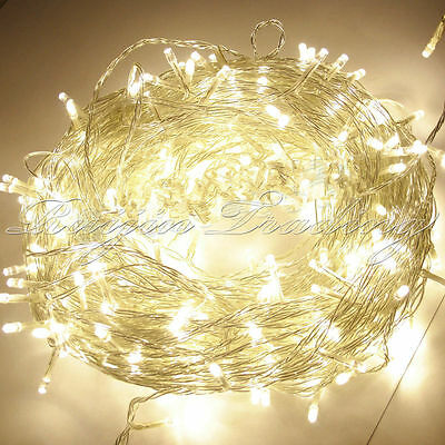 Warm White 100/200/300/400/500 LED String Fairy Lights Xmas Christmas Party Lamp